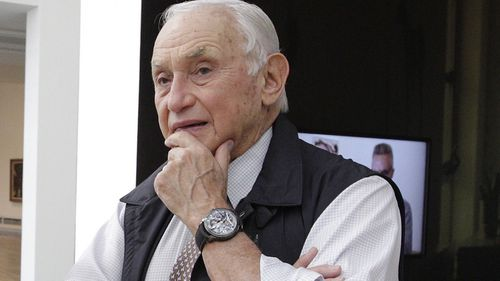 FILE - This Sept. 19, 2014 file photo shows retail mogul Leslie Wexner, at the Wexner Center for the Arts in Columbus, Ohio. Wexner, who founded L Brands, will step down as chairman and CEO after the transaction is completed and become chairman emeritus. (