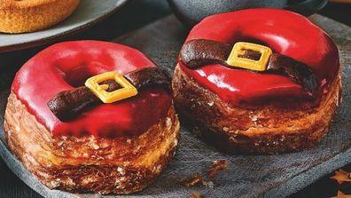 Santa doughnuts