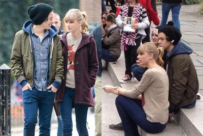 """When Taylor hooked up with One Direction heart-throb Harry Styles in November 2012, the pop star pairing immediately were christened """"Haylor"""" by fans. Taylor received death threats and YouTube songs predicting the inevitable break-up, but all went swimmingly with the couple as they holidayed together New York, Utah, the UK, and the Caribbean all in one month."""