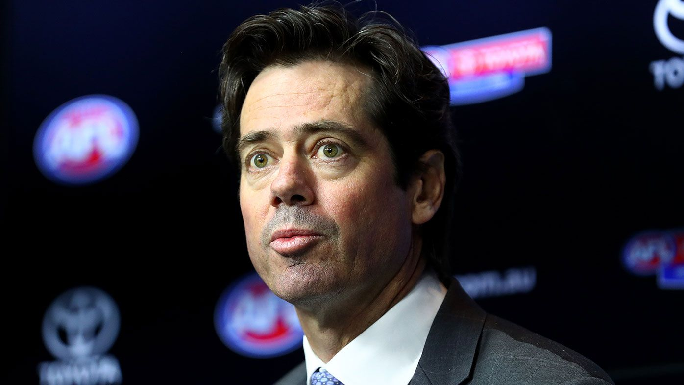 AFL boss Gillon McLachlan calls Eddie McGuire over 'proud' comment at media conference