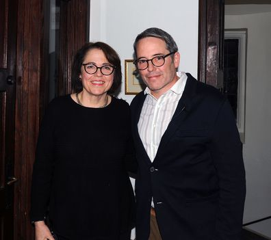 Matthew Broderick, sister Reverend Janet Broderick, St Peter's Episcopal Church, Morristown, New Jersey, 2018