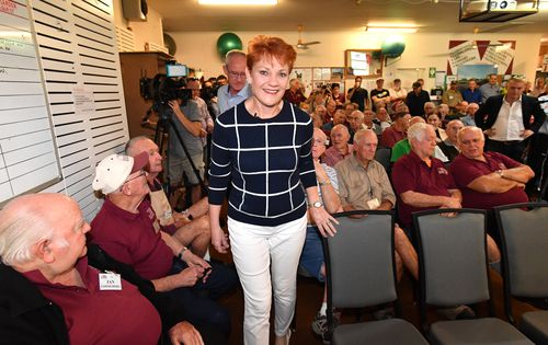 One Nation leader Pauline Hanson has taken a break in the lead-up to the crucial Longman by-election. Picture: AAP