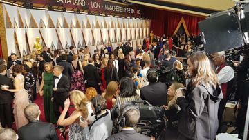 Bedlam on the Red Carpet. (9NEWS/Ehsan Knopf)