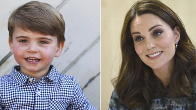 Friends says Kate thinks Prince Louis is the only one of her children that looks like her.