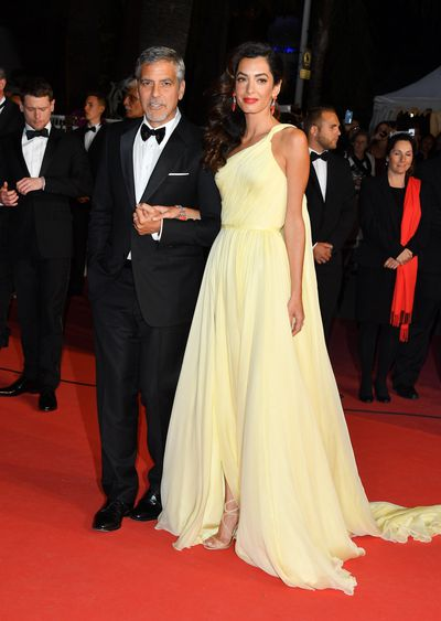 George and Amal Clooney, in Atelier Versace, at the premiere of Money Monster at the Cannes Film Festival in May, 2016
