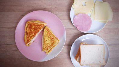 Perfect omelette egg bread hack