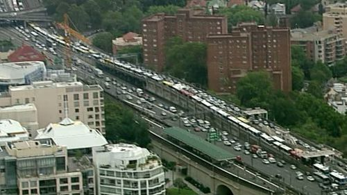 Anyone travelling into the city is being advised to allow additional travel time. (9NEWS)