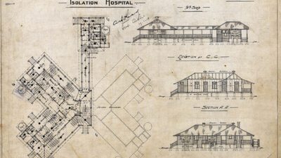 Plans for the isolation hospital at Lytton Quarantine Station, 1913.