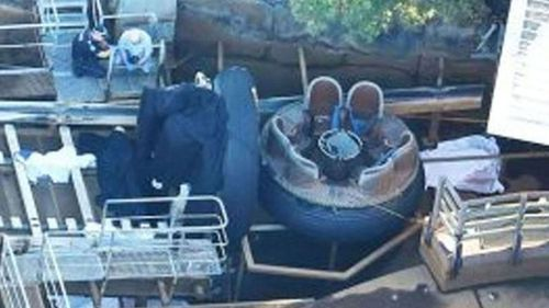 The Thunder River Rapids ride.