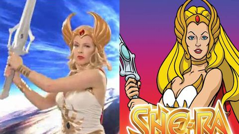 Kylie Minogue is all kinds of amazing as '80s superheroine She-Ra in TV spoof