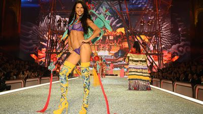 The Olympics of fashion have finally started with the Victoria's Secret runway show taking place in Paris.&nbsp;<br> 51 of the worlds top models strutted their stuff in lingerie, including Jasmine Tookes in the Fantasy Bra which cost more than $3 million to create.&nbsp;<br> The mood was dark with a dark angels theme leaving Gigi and her sister Bella Hadid, Kendall Jenner and Lily Aldridge in black attire.<br> This is Victoria's Secret, however, so Lady Gaga and The Weeknd were there to keep the crowd smiling. Lady Gaga is a fan of outrageous attire but perversely remained covered up for this gig.<br> See all of the highlights from the Victoria's Secret Fashion Show 2016.