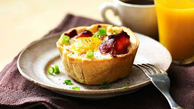 <strong>Sausage, egg and bacon pies</strong>