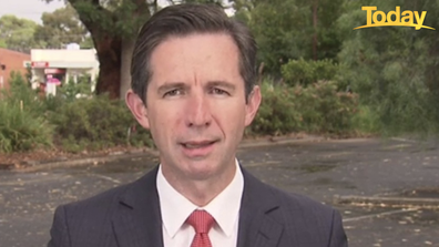 """Minister for Trade and Tourism Simon Birmingham has branded returned travellers a """"risk point"""" for the new strain."""