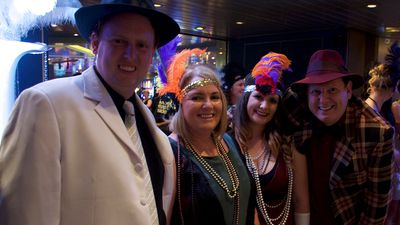 The Frens made a great team for the Gatsby party.