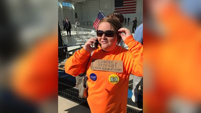 <p>Some Trump supporters haven't shied away from vilifying his rival, Hillary Clinton.</p> <p>(9NEWS/Tom Steinfort)</p>