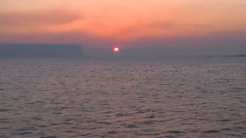 The smoke created a spectacular sunrise. (9NEWS)