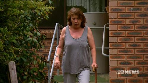 After crashing into a neighbour's fence, Ms Van Voorst had her licence suspended on the spot by police when she blew four times the legal limit. (9NEWS)