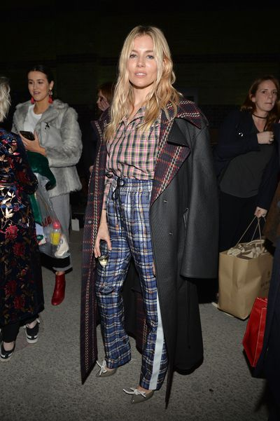 Sienna Miller at Burberry A/W '18, London Fashion Week