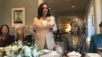 Kamala Harris at home in the Vice President's residence