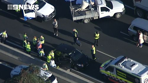 Police were called to the scene of the crash about 3:30pm. (9NEWS)