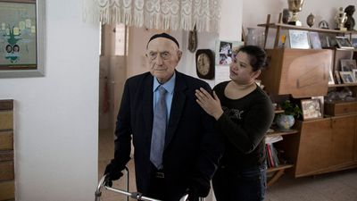 The oldest Holocaust survivor 111-year-old Israel Krystal markd the occasion from his home in Israel.
