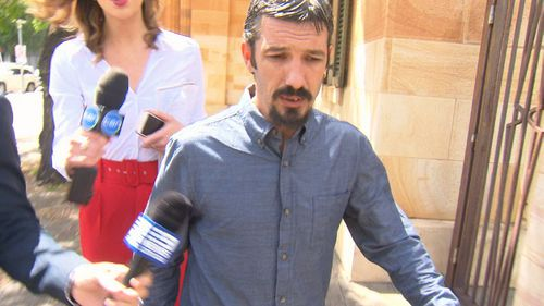 Paul Wright outside court today.