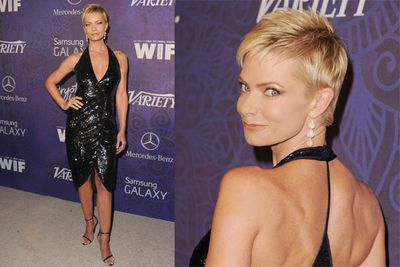 Is that Jamie Pressly or Sharon Stone? <br/><br/>The <i>My Name Is Earl</i> actress is channelling some serious '90s diva flavour right now.