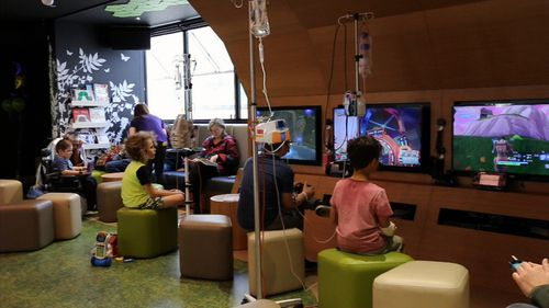 A Starlight playroom is now in every children's hospital in the country. Picture: 9NEWS