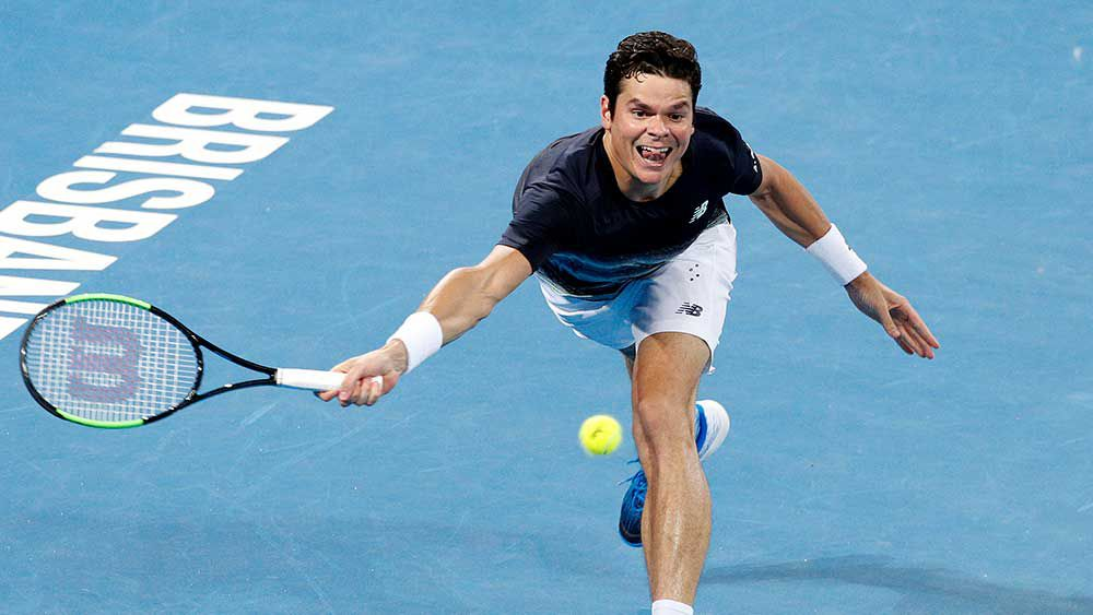 Raonic beats Nadal in Brisbane quarters