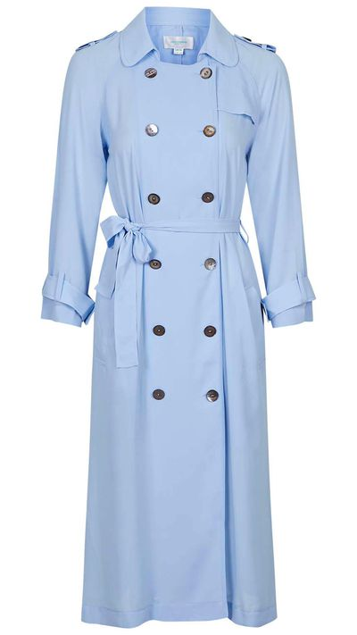 "<a href=""http://www.topshop.com/en/tsuk/product/clothing-427/jackets-coats-2390889/scandinavia-longline-trench-duster-by-jovonna-4315696?bi=1&amp;ps=200""> Scandinavia Longline Trench Duster, $125 approx, Topshop</a>"