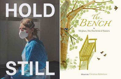 The Duchess of Cambridge's Hold Still book (left), The Duchess of Sussex's The Bench children's book (right)