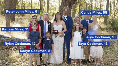 The seven people killed in the shootings.