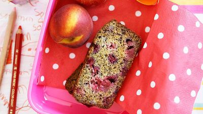 "Recipe:&nbsp;<a href=""http://kitchen.nine.com.au/2016/05/16/17/38/banana-and-raspberry-loaf"" target=""_top"" draggable=""false"">Banana and raspberry loaf</a>"
