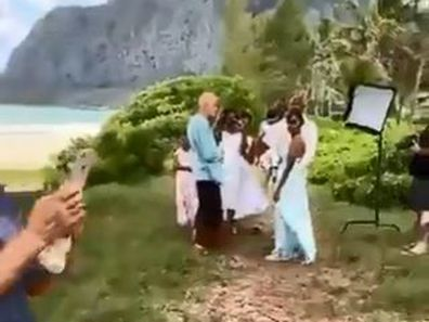 'Wedding Karen' interrupts beach side ceremony amid coronavirus