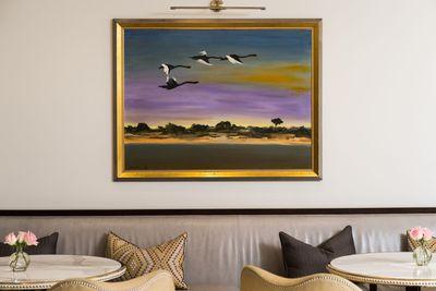 <strong><em>Swans at Metung,&nbsp;</em></strong><strong>Albert Tucker</strong>