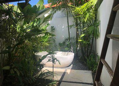 Bali resort outdoor bathroom