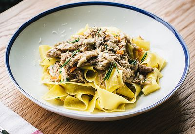 Pappardelle with braised pig ragu