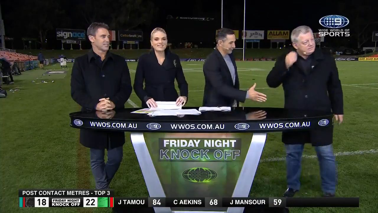 Oblivious Gus burns Billy Slater with post-match footy snub