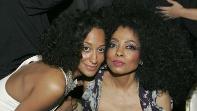 Tracee Ellis Ross and Diana Ross at the Pre-GRAMMY Awards Party in 2005.