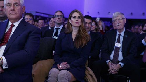 Hope Hicks (centre). (AAP)