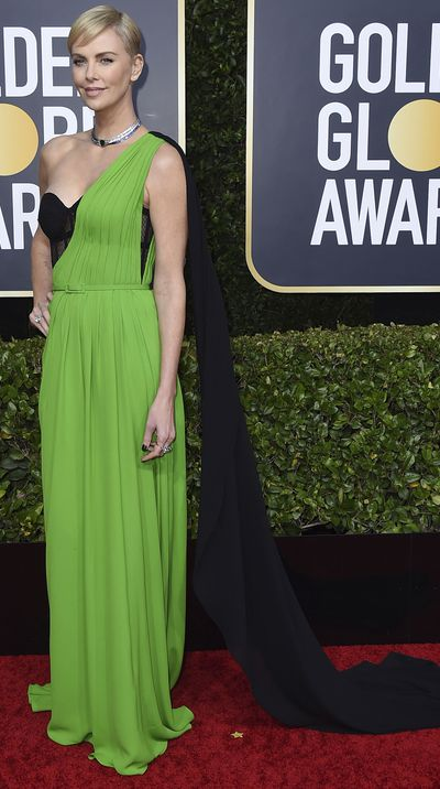 Charlize Theron at the 2020 Golden Globes.