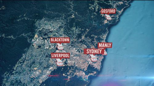 Blacktown, Gosford, Liverpool, Manly and the city are the five worst areas for violence against ambulance officers. (9NEWS)