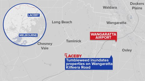 Laceby is located nearly 200km from Melbourne. (Copyright: 9NEWS)