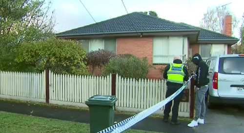 Authorities were called to the Frankston property after multiple shots were fired into a family home. Picture: 9NEWS