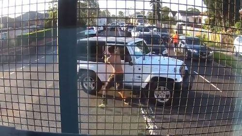 The incident on The Horsley Drive was captured on video. Picture: Supplied