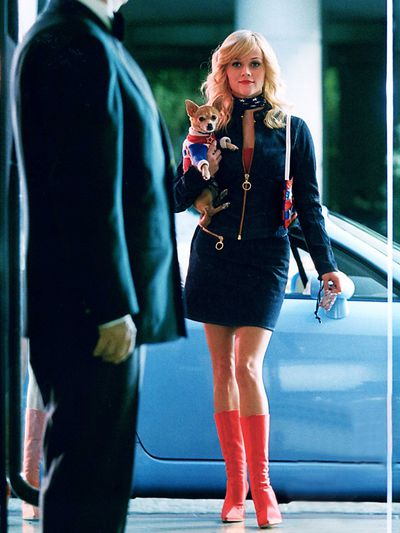 <p><strong>7</strong>. Legally Double Denim - <em>Legally Blonde 2: Red, White & Blonde</em>2003</p> <p>Elle was an early adapter of the denim on denim trend. A a pair of colourful statement boots and a matching scarf elevated the look and proved that not all double denim outfits have to resemble a character from <em>Full House.</em></p>