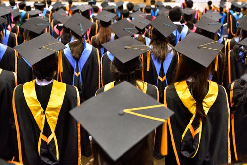 The cost of university is set to skyrocket over the next 10 years. (File image)