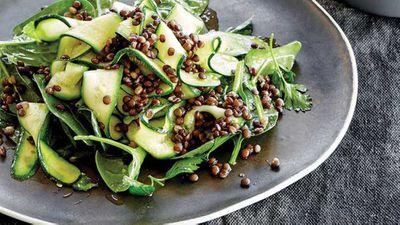 "Recipe:<a href=""http://kitchen.nine.com.au/2016/12/13/15/02/bone-broth-soaked-puy-lentil-and-zucchini-salad"" target=""_top"" draggable=""false"">Bone broth soaked puy lentil and zucchini salad</a>"