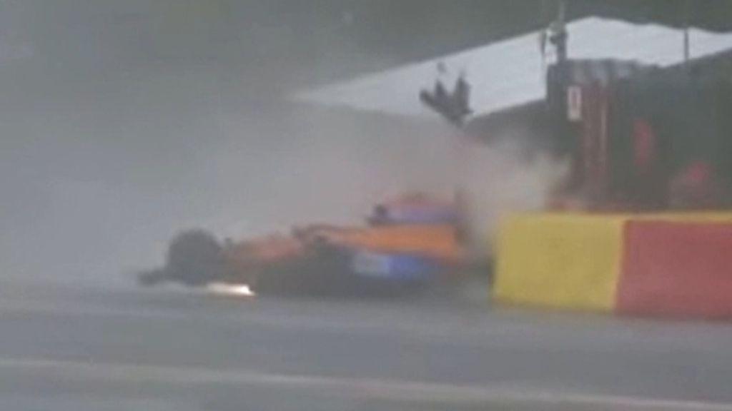 Sebastien Vettel fumes at officials after Lando Norris Q3 crash at Eau Rouge
