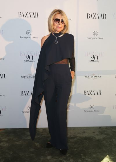 Fashion Designer Carla Zampatti at the Harper's Bazaar 20th anniversary party